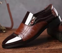 Men's leather loafers size 7 to 11 black or brown promotion 45$ each Montréal, H1G 5K6
