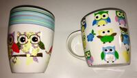 Two colorful owl mugs Bakersfield, 93308