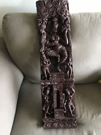 Antique wooden Indian wall hanging North Bethesda