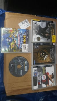 5 playstation 3 games Lakewood, 90715