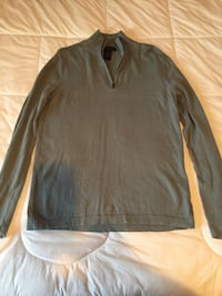 Men's blue green calvin klein 1/4 zip sweater. size small. in great condition!