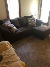 L-shaped brown suede sectional $400 Bowling Green, 43402
