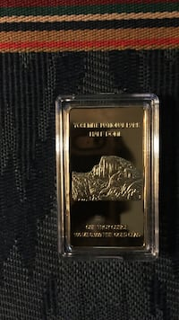 Uncirculated 1 oz gold Yosemite national park collection bar