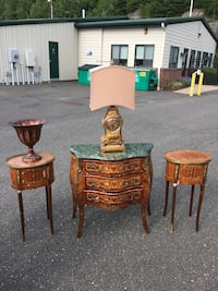 Marble top brown wooden table which end tables Beacon Falls, 06403