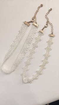 White Lace Chokers (Two Pack)