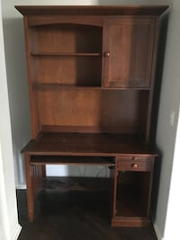 brown wooden computer desk with shelves and cabinet Whittier, 90603