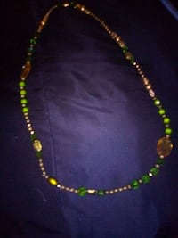 gold and green beaded necklace Fresno, 93706