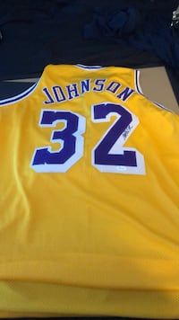 Magic Johnson signed jersey JCA authenticated