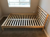 TARVA FULL SIZE BED FRAME INCLUDING LUROY SLATS - TWO AVAILABLE 100 EA. Langley Township