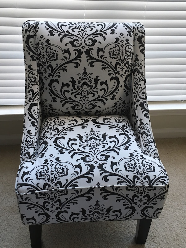 White Accent Chairs Used.White And Black Upholstered Accent Chair