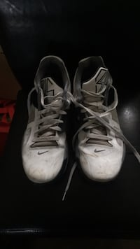 pair of white-and-black Nike basketball shoes Calgary, T3C 0G4