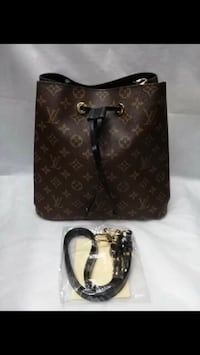 Brown louis vuitton leather tote bag obo and wallet Los Angeles, 91335