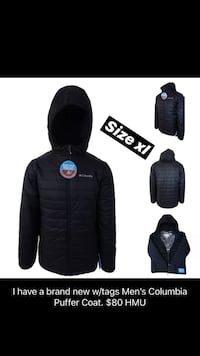 Black Columbia Puffer XL 376 mi