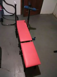 red and black bench press