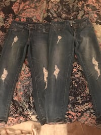 2 of same pair Mossimo high wasted leggings jeans
