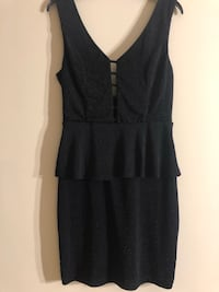 Black Peplum dress Alexandria