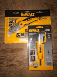 Dewalt Right Angle Attachment and Folding knife