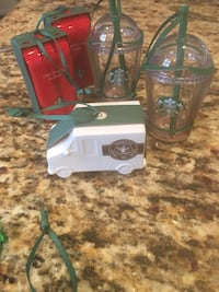 5 Starbucks 2016 Ornaments For $15 Gainesville, 20155