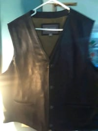 Mens Leather vest Frederick, 21702