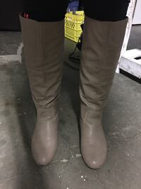Women's size 11 tan high boots