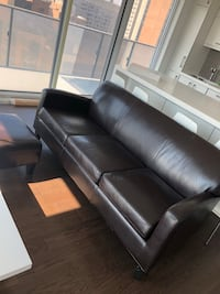 Black leather sofa Toronto, M5V