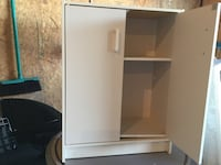 White wooden 2-door cabinet Regina, S4Z 1A6
