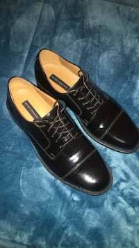 Pair of black leather shoes Hammond, 46324