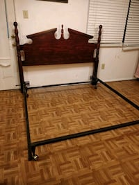 black metal bed frame with white mattress Annandale, 22003
