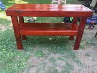 """Gunstock stained """"etc"""" table Athens, 35611"""