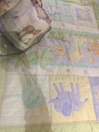 Two baby unisex crib bedding set
