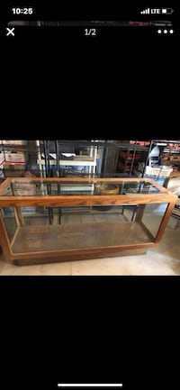 Display case tall36 wide 70 depth22
