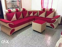 red and white sectional couch Bengaluru