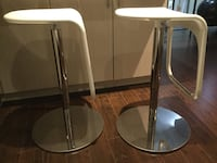 Two stainless steel-and-white bar stools Whitby, L1R 3N8