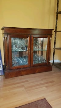 Hardwood & Glass Display Cabinet Springfield