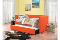 Daybed With Trundle Orange For Living Room Bedroom Sheets Pillows Sleeper Perfect Design Houston