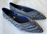 Seven7 zebra pointed knit flats Falls Church, 22041