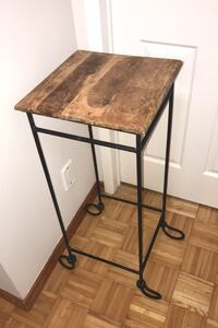 Durable Metal stand with wood top
