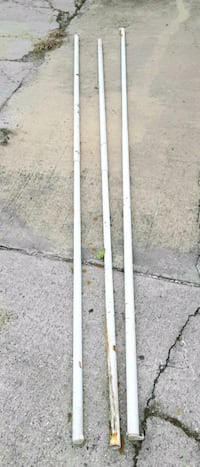 Outdoor curtain rods, or closet rods