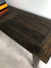 rectangular brown wooden coffee table Toronto, M5V 3W7