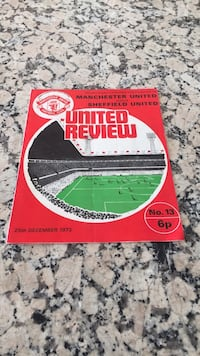 United Review soccer programme Los Angeles, 90049