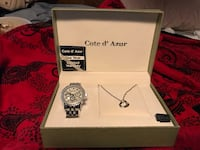 NIB COTE D'AZUR WATCH SET. Comes with box , warranty card and authenticity. Baldwin, 11510
