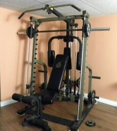 See more info (smith machine bench combo)