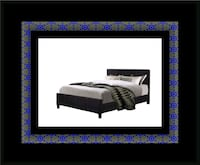 King platform bed with mattress