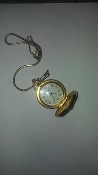 Pirate Pocket Watch Complete With long Chain.