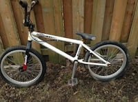 white and black BMX bike