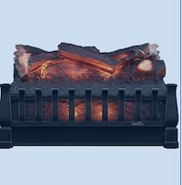 NEW! Electric Log Set Heater with Realistic Ember Bed, Black Calgary, T3G 1J6