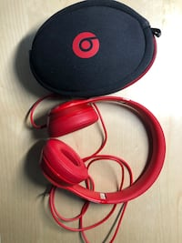 Beats solo red noise cancelling headphones