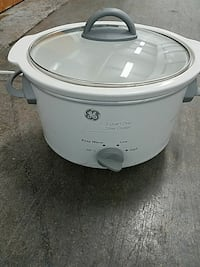 white GE slow cooker