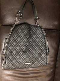 quilted black leather crossbody bag New York, 11220
