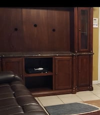 brown wooden TV hutch  Covington, 70433